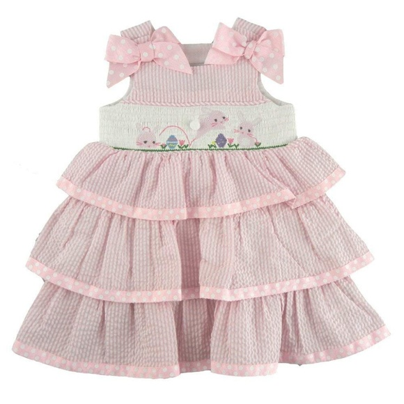 3abd29232 Mud Pie Dresses | Infant Girls Smocked Easter Bunny Dress | Poshmark
